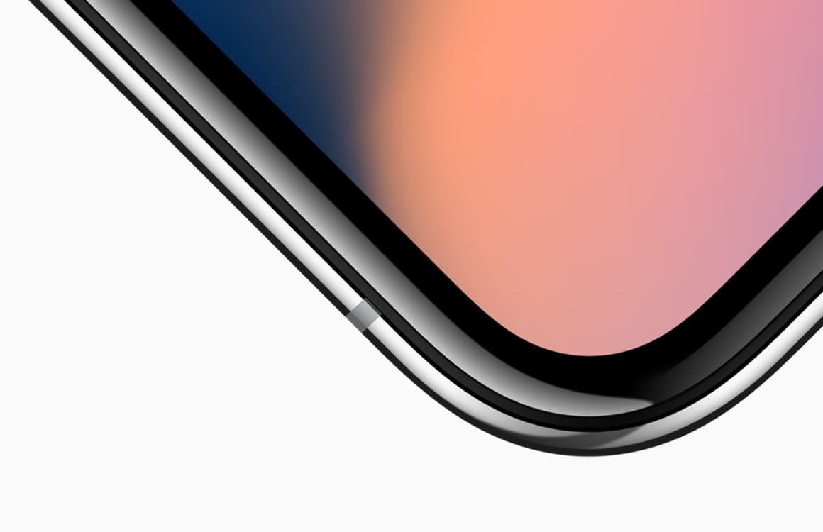 iPhone X hoekje