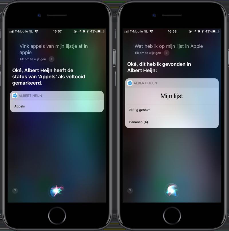 Appie en Siri