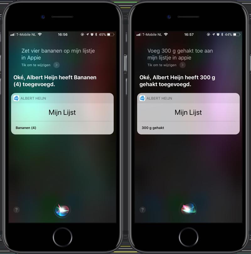 Appie Siri boodschappen inspreken