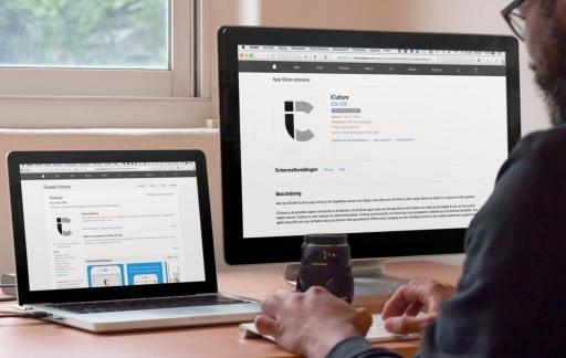 iCulture-app webpagina