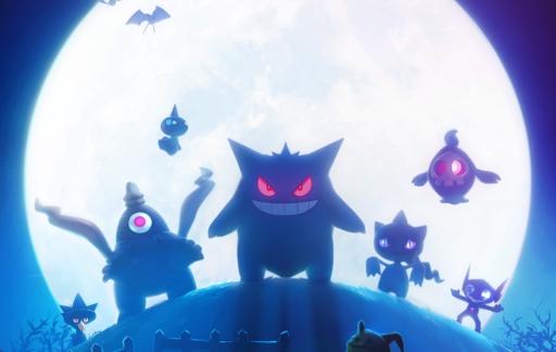 Derde generatie Pokémon tijdens Halloween.