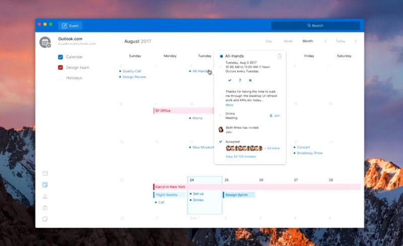 Outlook voor Mac: betere agenda