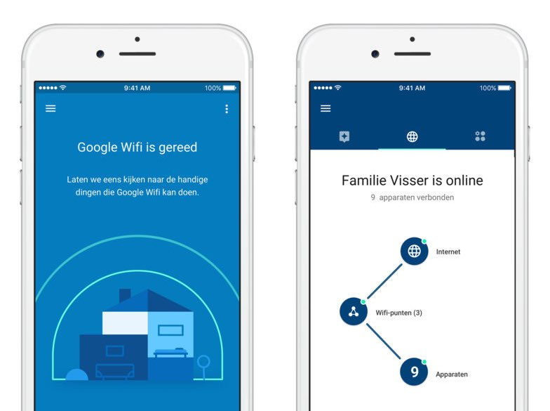 Google Wifi-app Nederlands