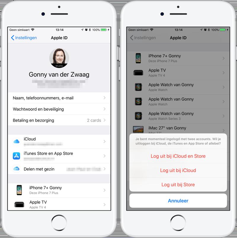 iCloud-backup mislukt: opnieuw inloggen