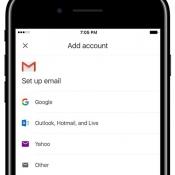 Gmail-app met overige accounts.
