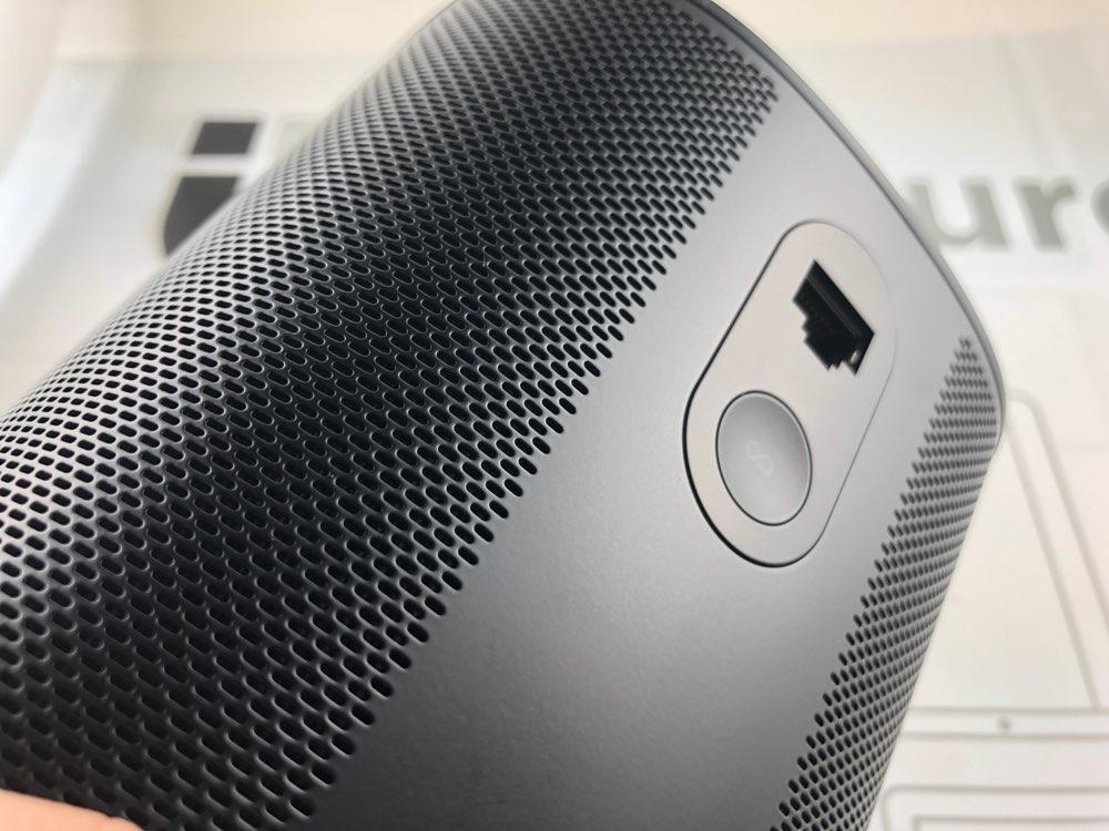 Sonos One review: pairingknop boven de Ethernet-poort