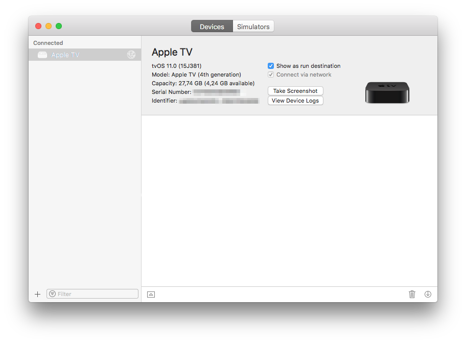 Apple TV 4K screenshot maken.