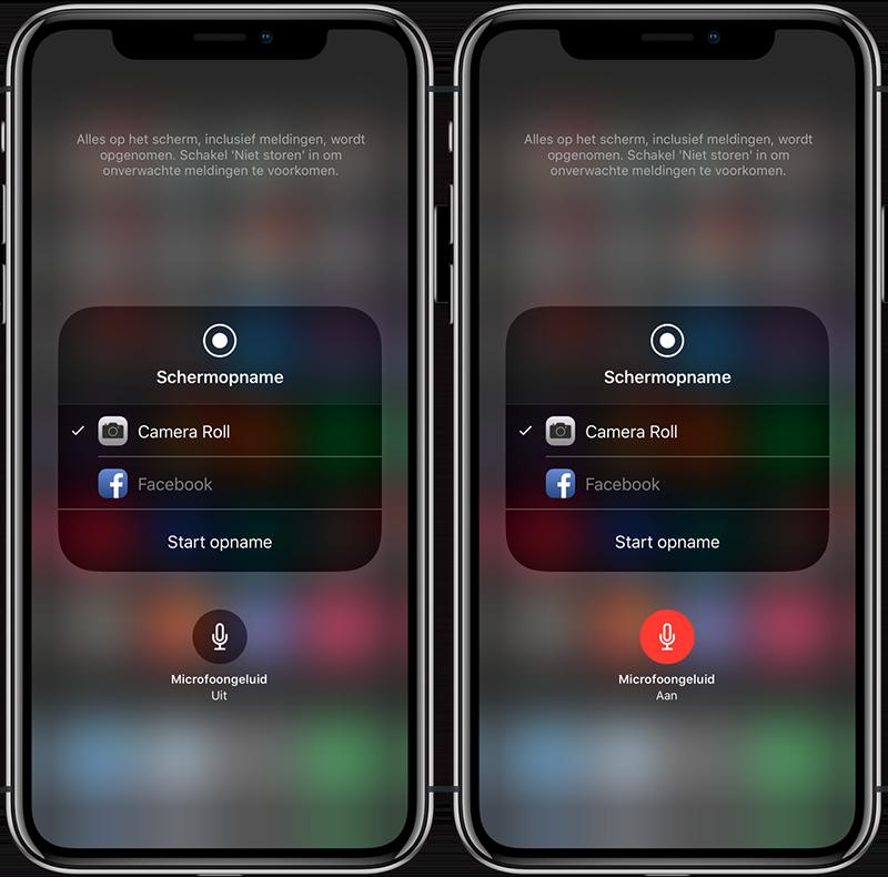 Schermopname maken iOS 11