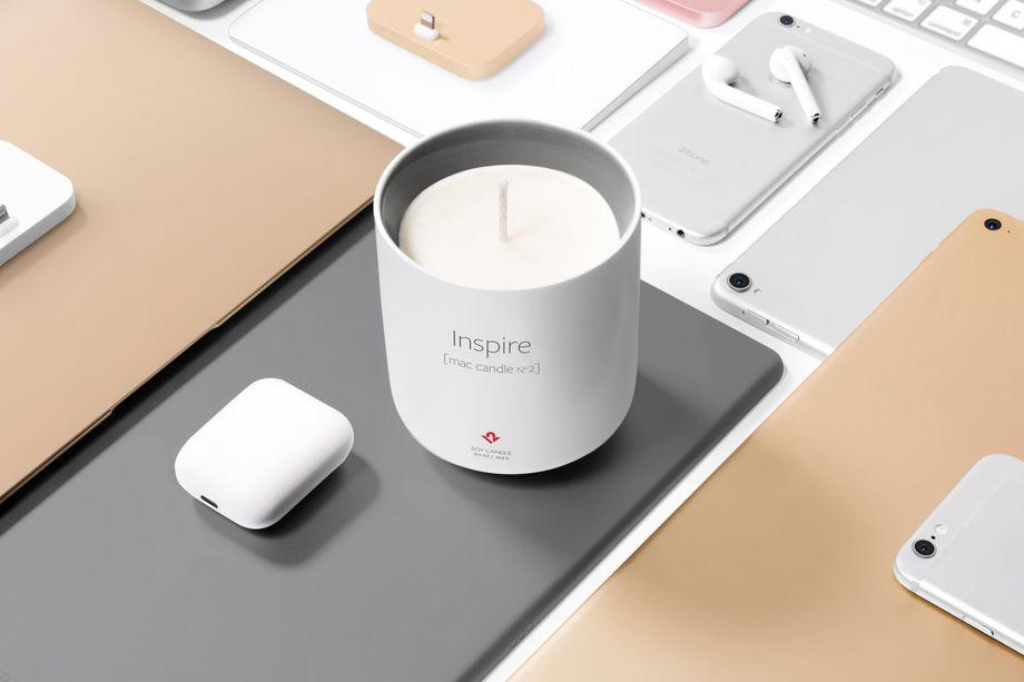 Inspire-kaars ruikt naar Mac