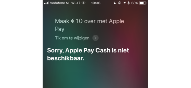 Apple Pay Cash en Siri