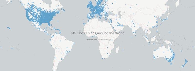 Tile-wereldkaart