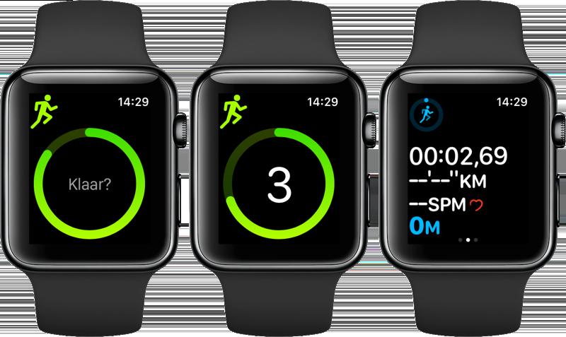 Workout-app tijdens het sporten