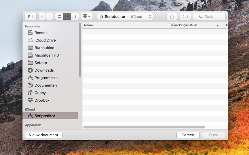 AppleScript scripteditor