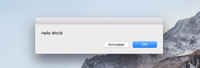 AppleScript uitvoer