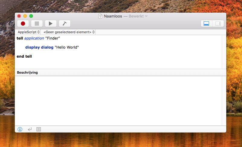 AppleScript code opmaak
