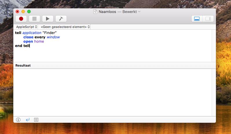 AppleScript voorbeeld script