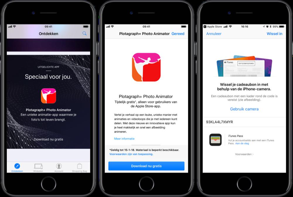 Plotagraph+ downloaden via Apple Store-app.
