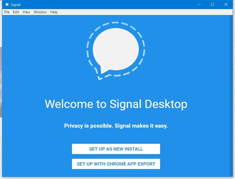 Signal voor Mac desktop