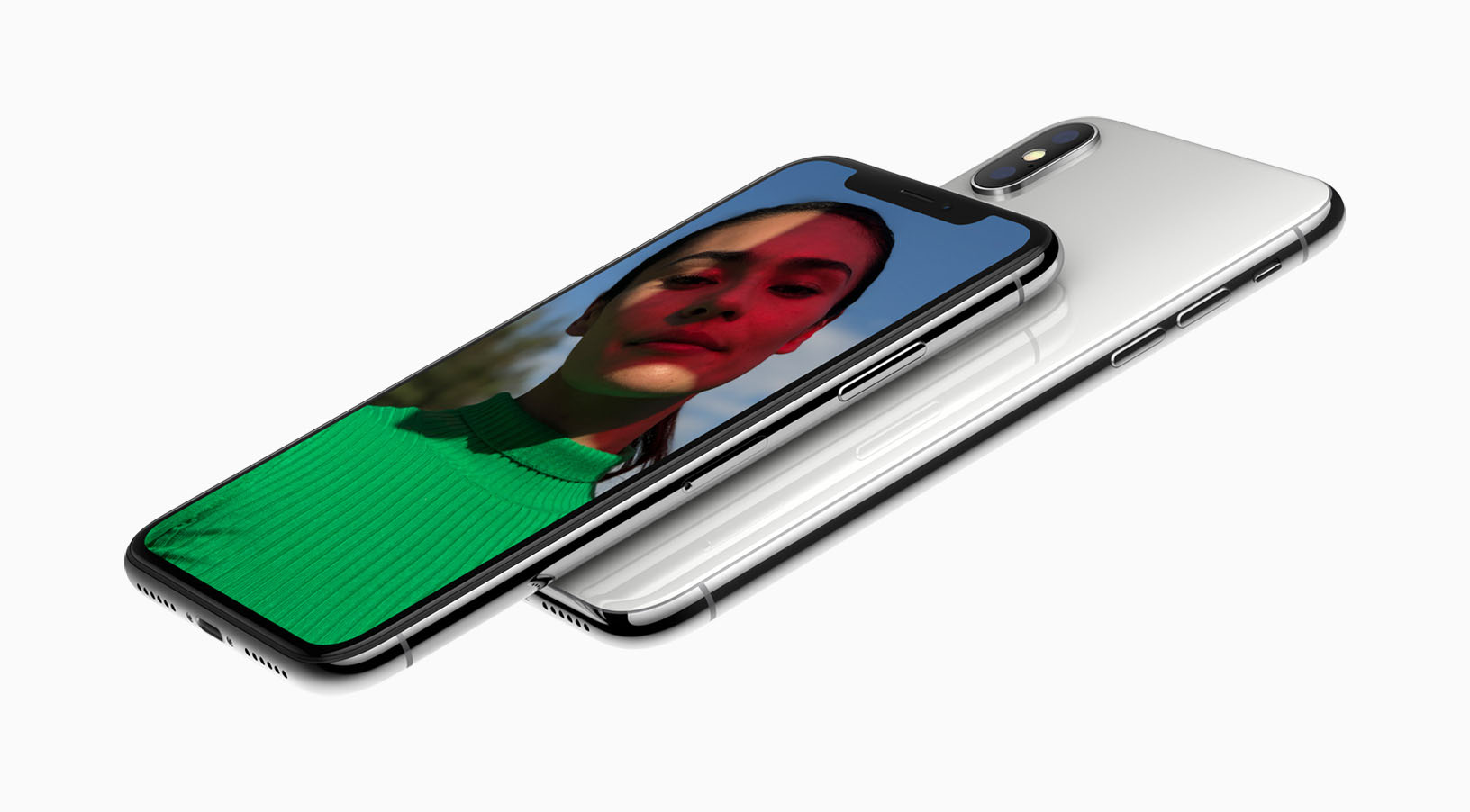 iPhone X schuin