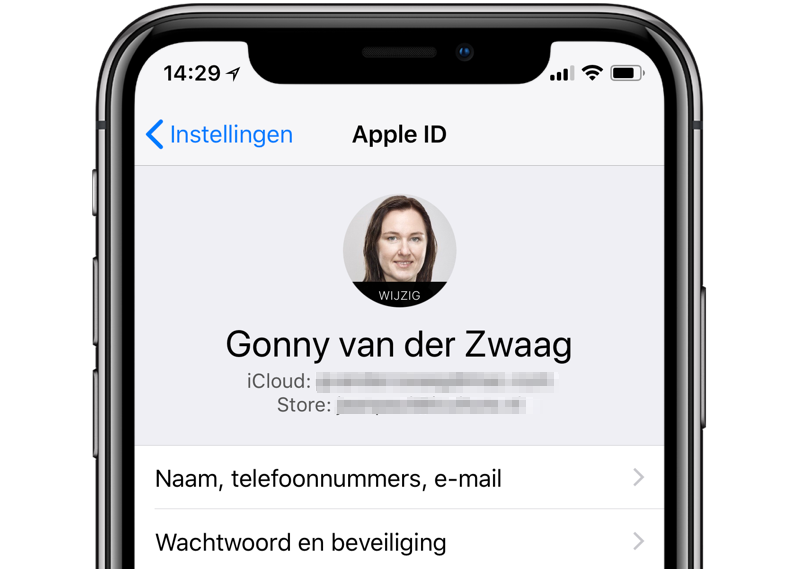 Apple ID wisselen