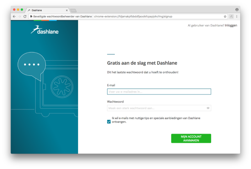 Dashlane browser-extensie.