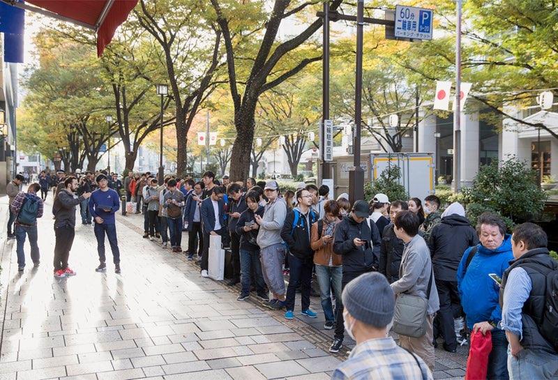iPhone X lancering Apple Store wachtrijen