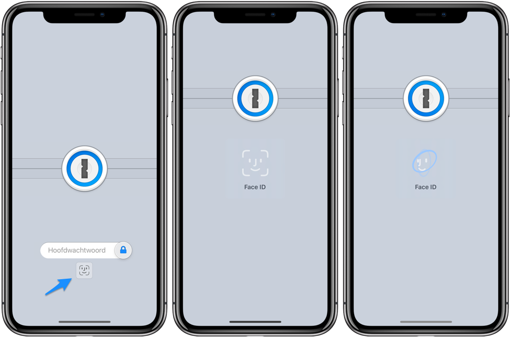 1Password Face ID inloggen
