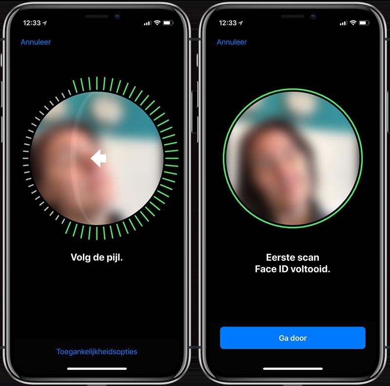 Face ID instellen: blinden kunnen aanwijzingen niet goed zien