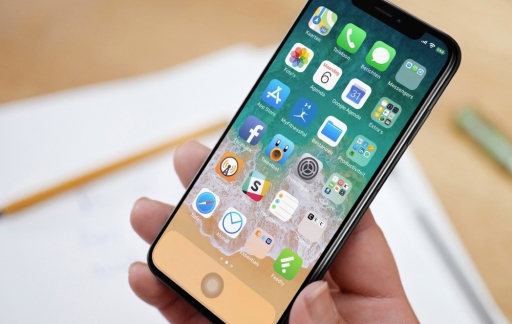 iPhone X met virtuele thuisknop.