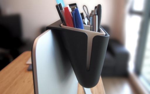Mac Caddy bak voor aan je iMac.