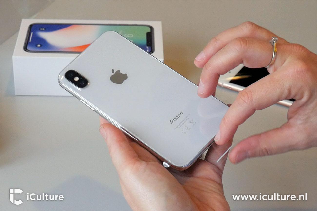 iPhone X review: uitpakken en achterkant behuizing