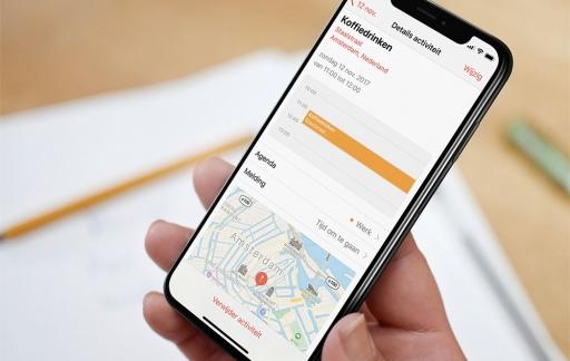 Locatie in agenda-app