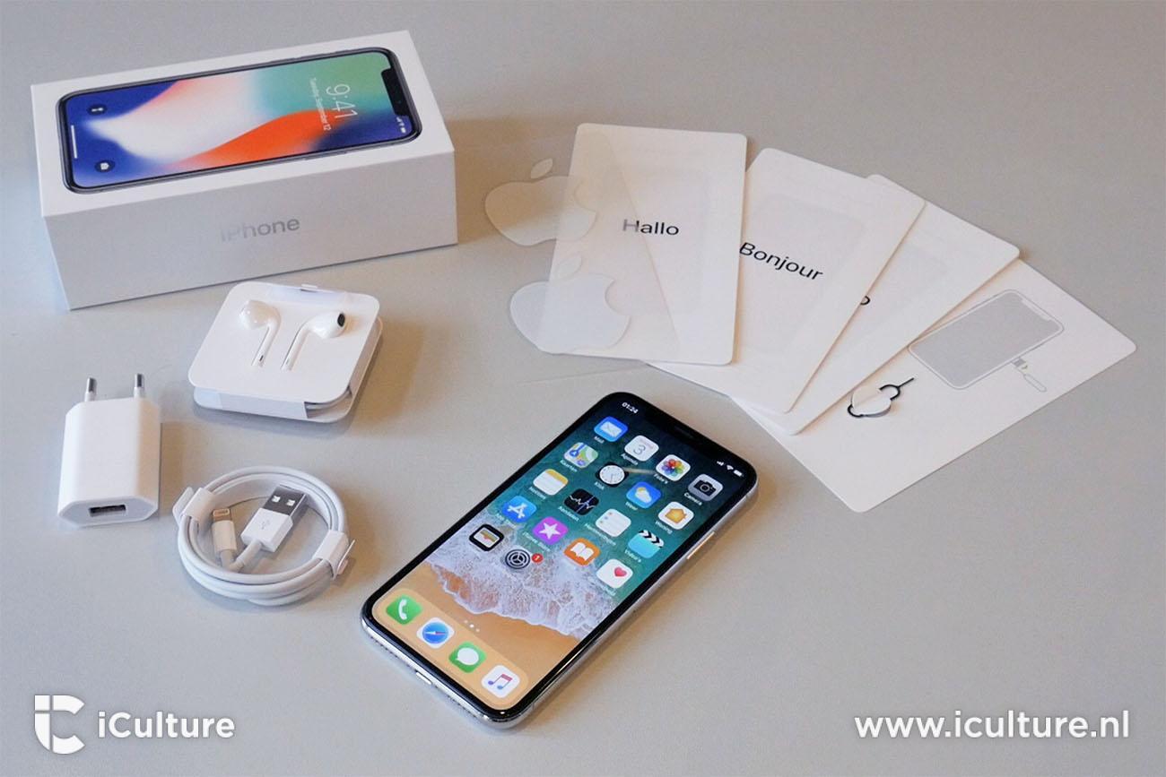iPhone X review: inhoud van de verpakking