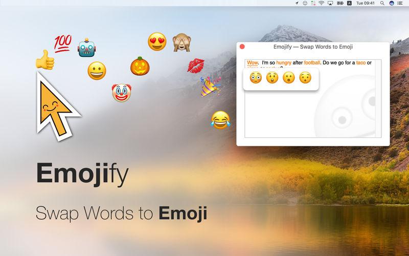 Emojify op de Mac.