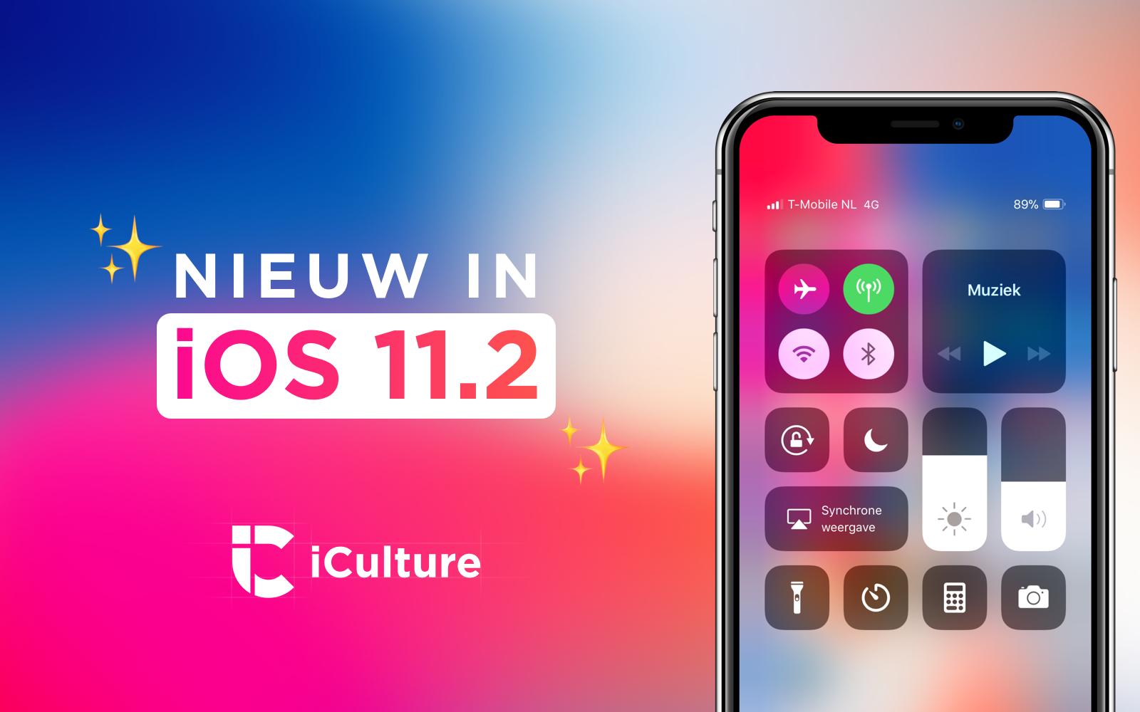 Nieuwe functies in iOS 11.2.