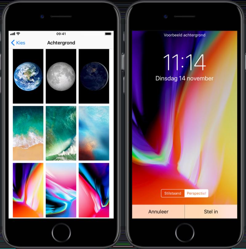 Achtergronden in iOS 11.2.