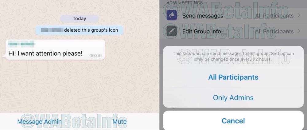 WhatsApp groep met admins.