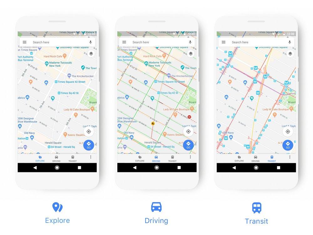 Standen en kleuren voor Google Maps.
