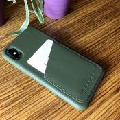 Mujjo iPhone X wallet case, achterkant