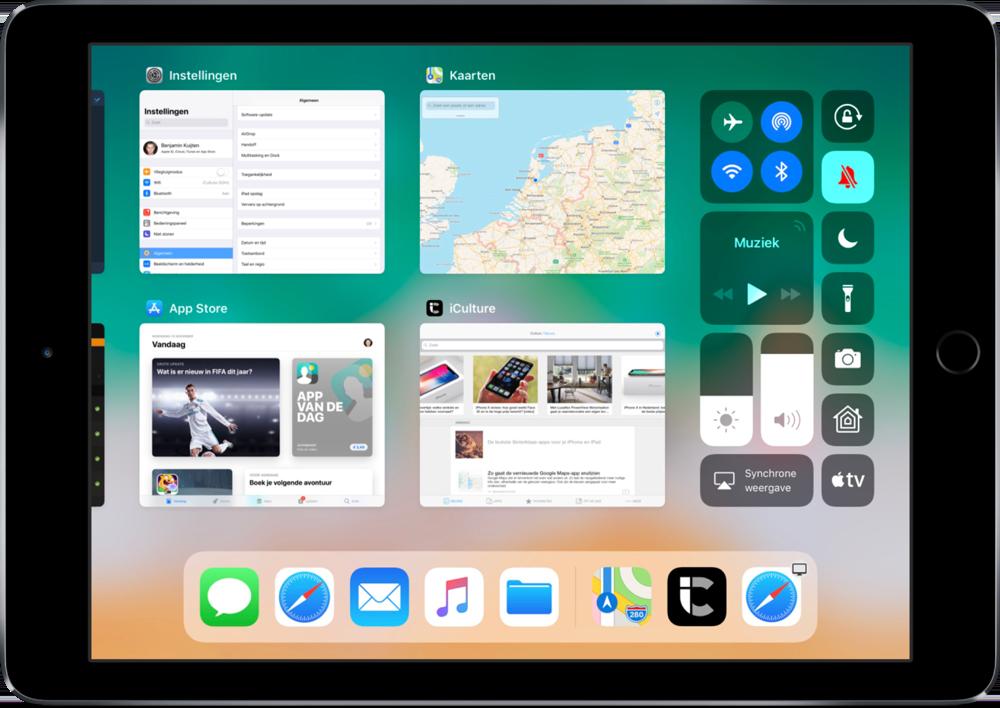 Appkiezer op de iPad.