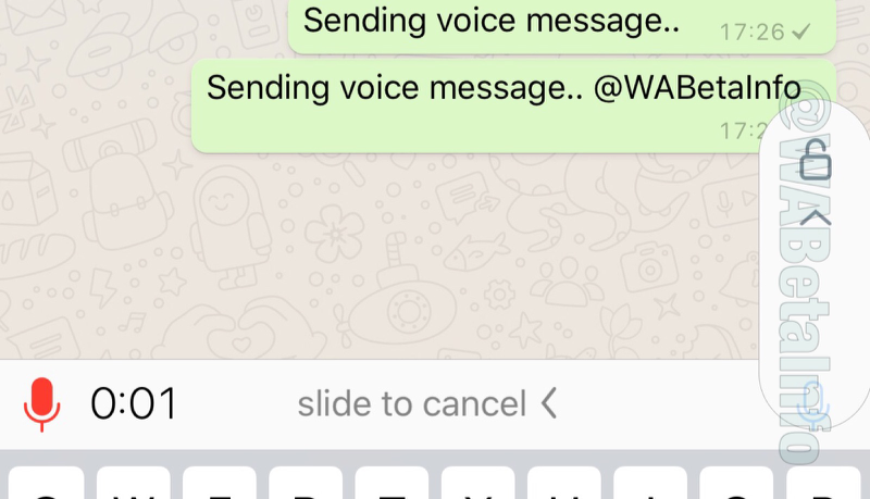 WhatsApp audio-opname vastzetten.