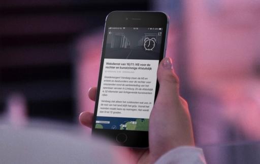 NOS Wekdienst op de iPhone.