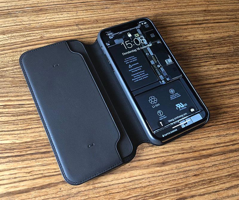 Apple Leren Folio voor iPhone X