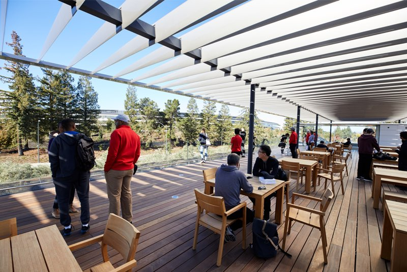 Apple Park Visitor Center: terras