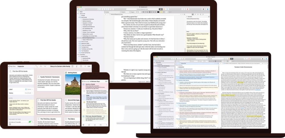 Scrivener 3 voor macOS.