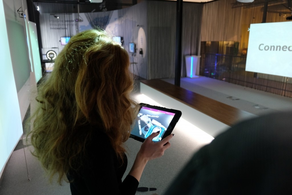 Philips Design Tour ARKit op een iPad.