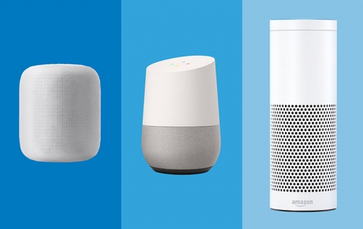 Apple HomePod, Amazon Echo en Google Home