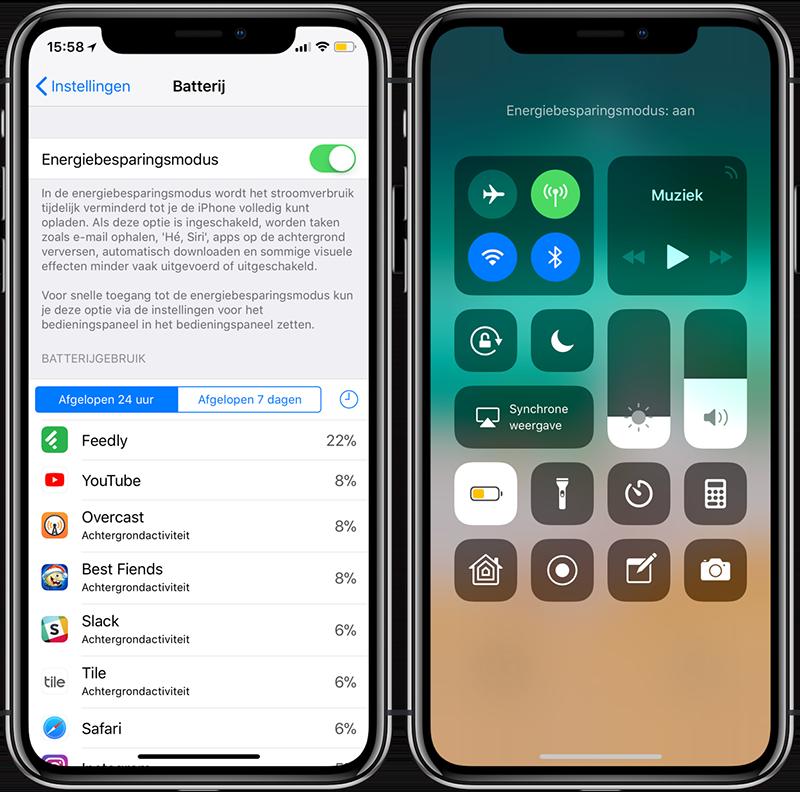Energiebesparingsmodus iPhone