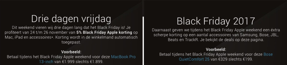 Black Friday bij Amac.