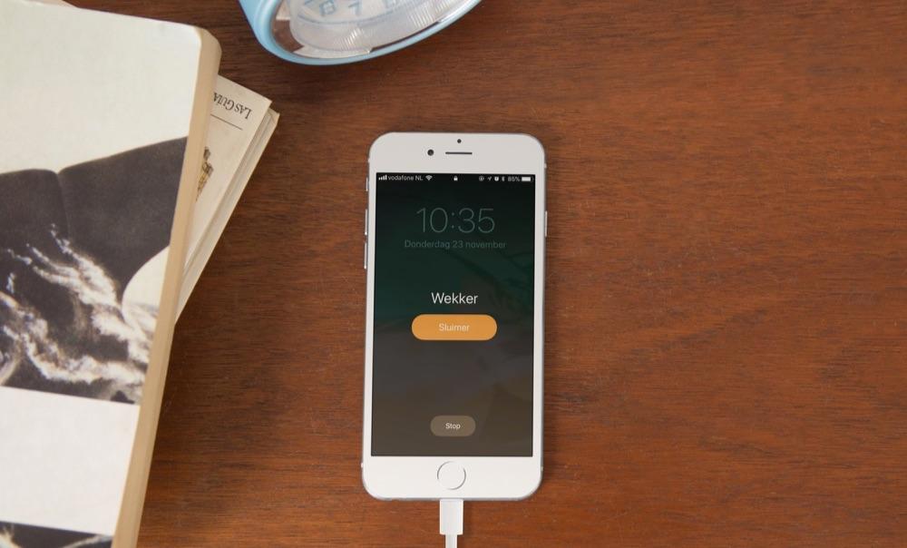 Wekker op de iPhone in iOS 11.